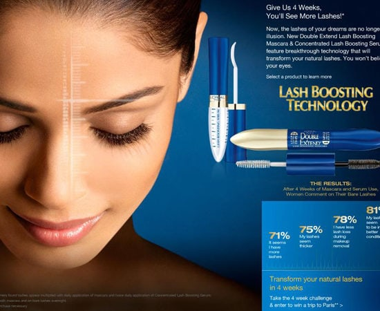 Loreal Lash Boosting Serum Advertisement