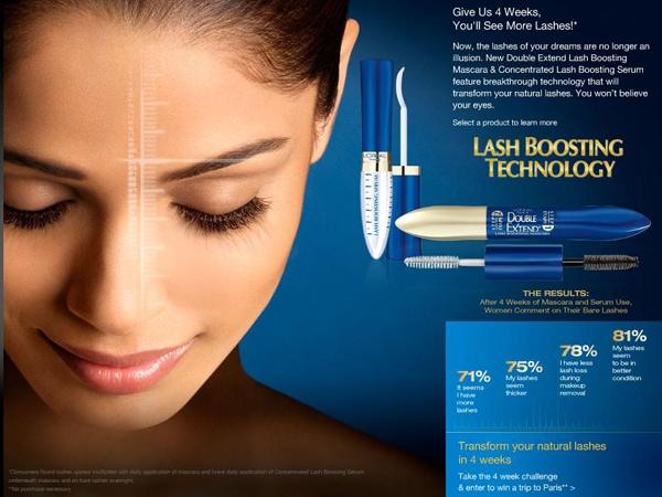 Loreal Lash Boosting Serum Advertisement