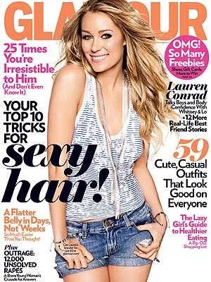 Lauren Conrad on the cover of Glamour magazine