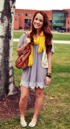 Lauren, a college fashionista flaunting her street style at Gonzaga University in Spokane