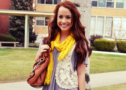 College street style - scarf