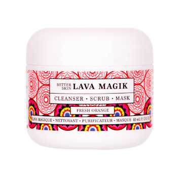 Photo including Better Skin Co.'s Lava Magik face scrub.