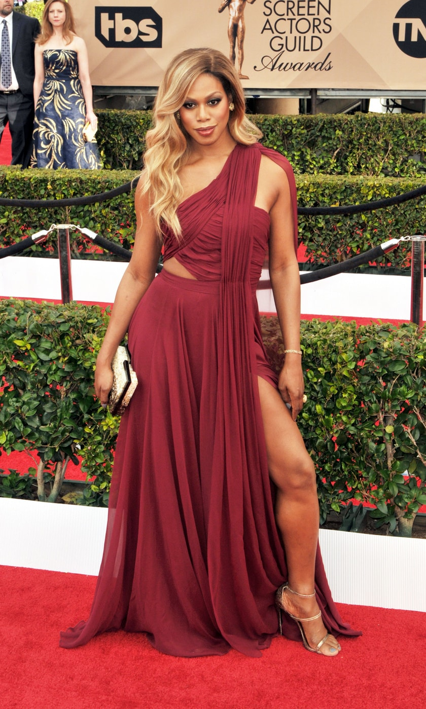 Laverne Cox in Prabal Gurung at the 2016 SAG Awards