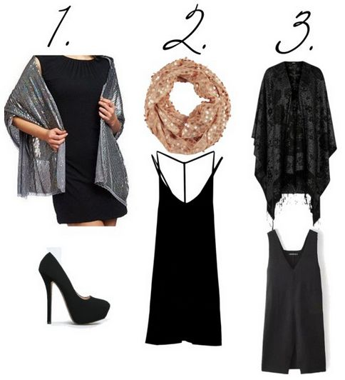 lbd and sparkly wrap looks