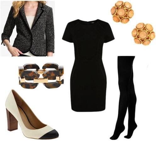 How to wear a LBD (little black dress) to work or an internship