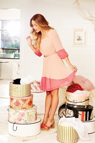 LC Lauren Conrad for Kohl's Spring 2012: Pink colorblock dress