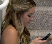 Lauren Conrad with her hair twisted and pulled back