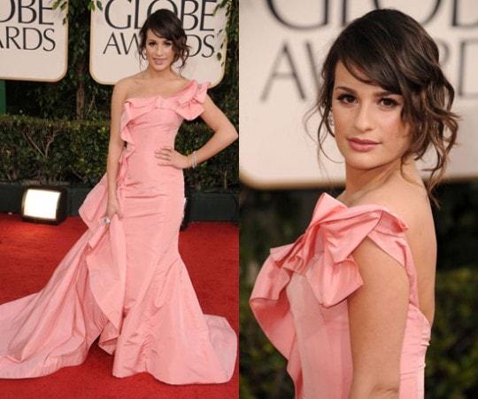 Lea Michele 2011 Golden Globes