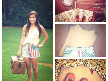 Leah American Flag Shorts Outfit
