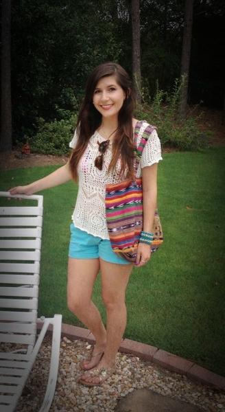 Leah's Crochet Top Beach Outfit