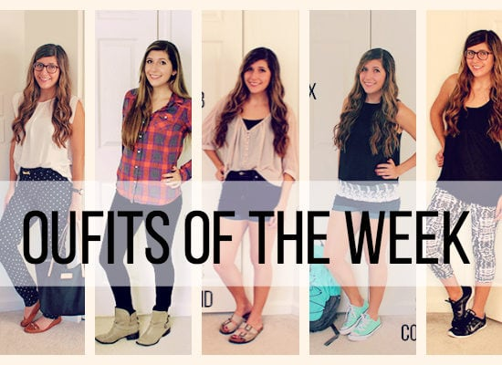 Leah's outfits of the week collage
