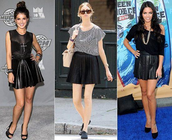 Shenae Grimes, Whitney Port and Jenna Dewan Tatum in Leather Minis