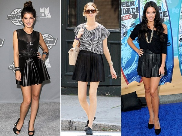 Shenae Grimes, Whitney Port and Jenna Dewan Tatum in Leather Minis