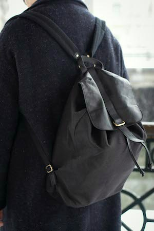 Leather backpack college trend