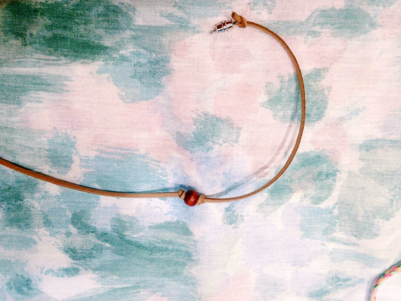 leather beaded choker how to