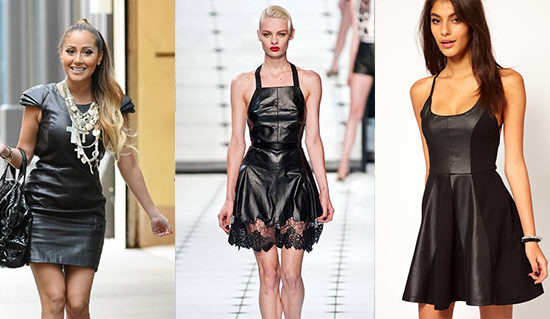Leather dress trend