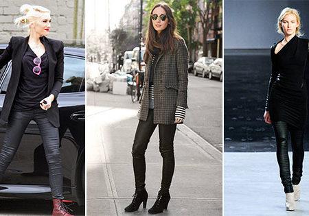 Fall 2012 fashion trend: Faux leather leggings
