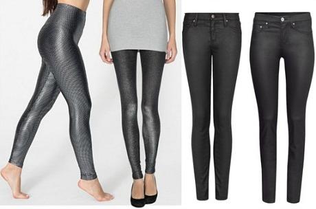 Leather look pants leggings wardrobe staple