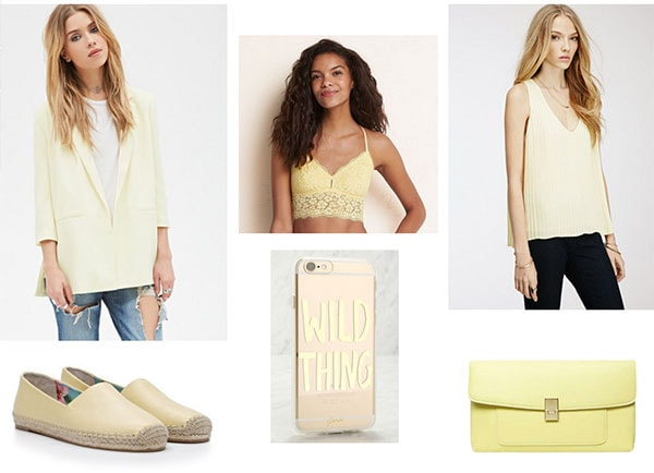 Lemon chiffon clothes and accessories for spring 2016