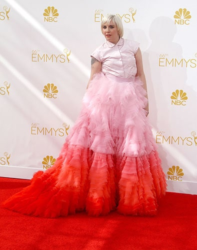 Lena Dunham in Giambattista Valli Couture at the 2014 Emmy Awards