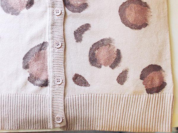 Leopard cardigan step 3