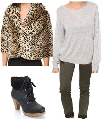 How to wear an animal print coat for class - outfits under 100 dollars