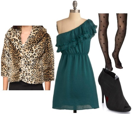 Leopard coat outfit under 100 dollars - how to wear a leopard coat for a night out