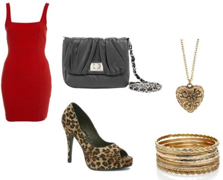How to wear leopard high heels - sample outfit