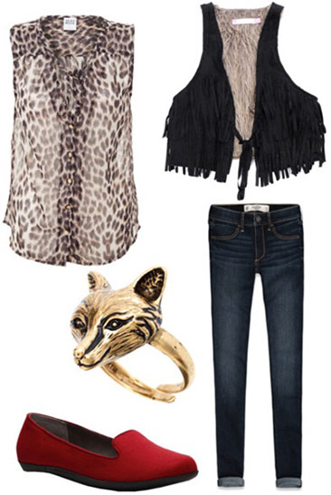 """Draped in Leopard Mink"" - outfit inspired by Macklemore & Ryan Lewis' ""Thrift Shop"" ft. Wanz"