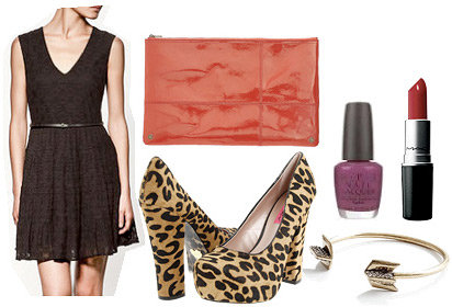 How to wear leopard shoes with a black dress