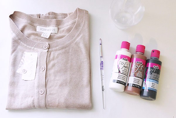 DIY leopard print sweater supplies