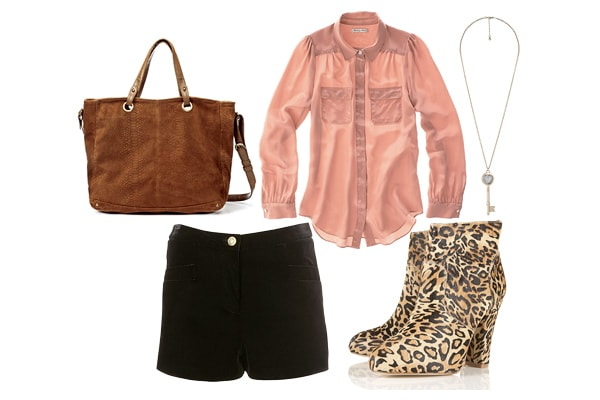 How to wear leopard print booties with shorts