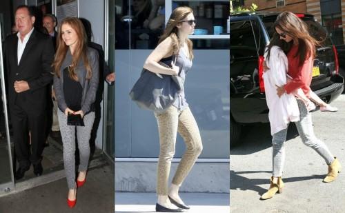Celebrities in Leopard Print Jeans