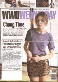 Les Halles and Alexa Chung in Women's Wear Daily (WWD)
