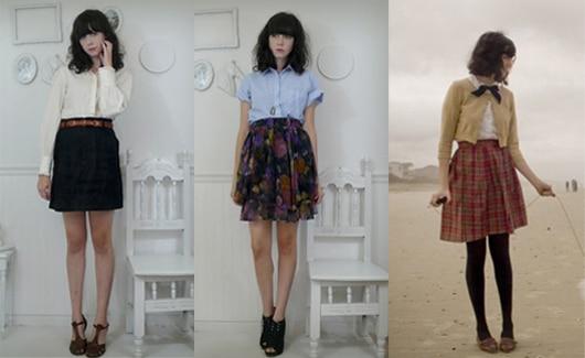 Cute skirts worn by Rhiannon of Liebemarlene Vintage