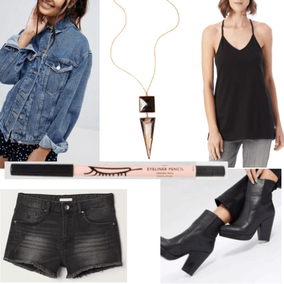 An outfit featuring edgy clothes from sustainable brands