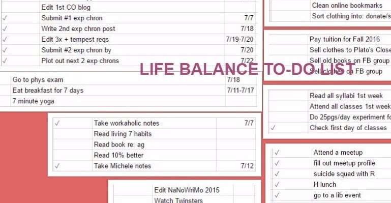 Life-Balance To-Do List