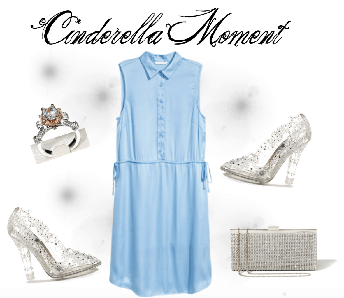 Light blue satin dress that will give you that perfect Cinderella moment.