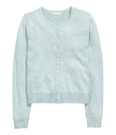Light blue cardigan from H&M