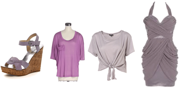 Lilac clothing and accessories