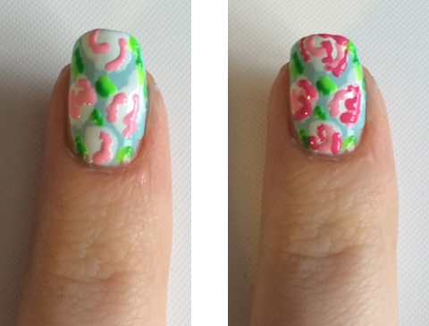 Lilly Pulitzer nails steps four and five