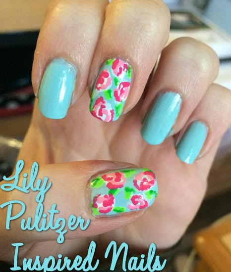 Lilly Pulitzer nail art
