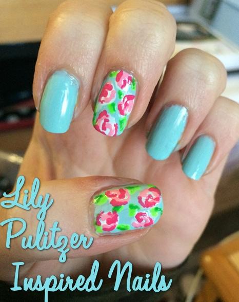 Lilly Pulitzer nail art