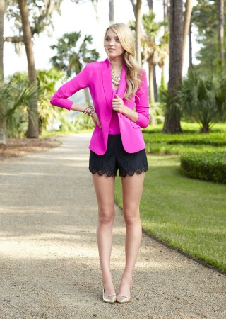Lilly Pulitzer pops of fuchsia