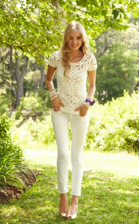 Lilly Pulitzer white lace top