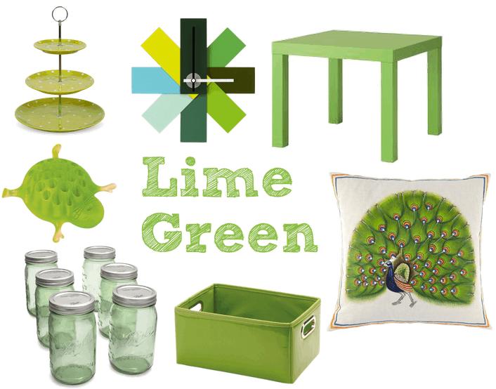 lime green dorm decor