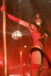 Lindsay Lohan Wearing Stripper Chic