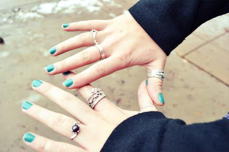 Fashion at Gonzaga University - rings and nail polish