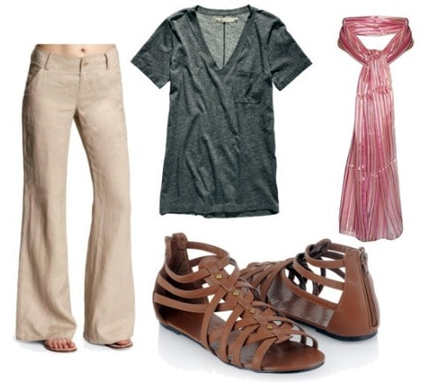 How to wear linen pants: outfit 1