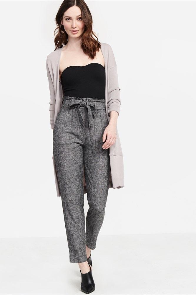 Linen paperbag pants